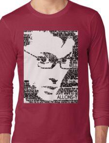 David Tennant 10th Doctor Word Portrait T-Shirt Long Sleeve T-Shirt