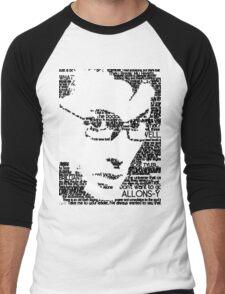David Tennant 10th Doctor Word Portrait T-Shirt Men's Baseball ¾ T-Shirt