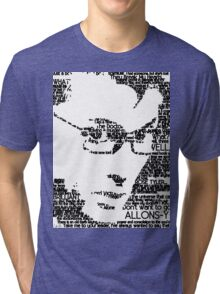 David Tennant 10th Doctor Word Portrait T-Shirt Tri-blend T-Shirt