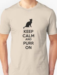 Keep calm and purr on Unisex T-Shirt