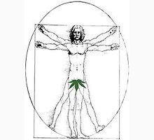 Vitruvian Man with a Cannabis Leaf Unisex T-Shirt