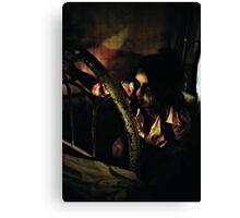 Santa left this at the end of your bed...... Canvas Print