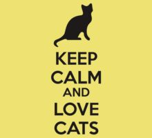 Keep calm and love cats One Piece - Short Sleeve