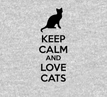 Keep calm and love cats Zipped Hoodie