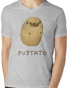 Pugtato Mens V-Neck T-Shirt