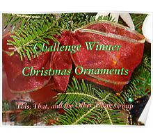 Banner for Challenge Winner - Chirstmas Ornaments Poster
