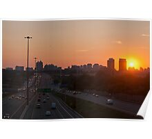Highway 401 West of Don Mills (#364) Poster