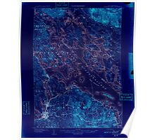 USGS TOPO Map New Hampshire NH Winnepesaukee 330377 1909 62500 Inverted Poster