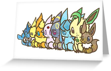Eevee Evolutions by Stephen Dwyer