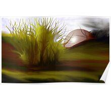 autumn sunset    -   ArtRage digital painting software Poster