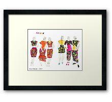Fashion Illustrations- 1987 Framed Print
