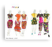 Fashion Illustrations- 1987 Canvas Print