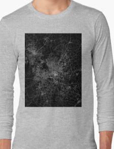 Raleigh map North Carolina Long Sleeve T-Shirt