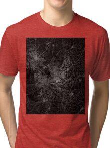 Raleigh map North Carolina Tri-blend T-Shirt