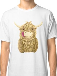 Cartoon Scottish Highland Cow Classic T-Shirt