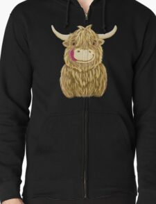 Cartoon Scottish Highland Cow T-Shirt