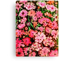 Pink Flower Etching No.1 Canvas Print