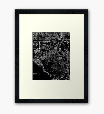 Riverside map California Framed Print