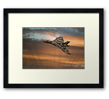 Avro Vulcan XH558 At Sunset Framed Print