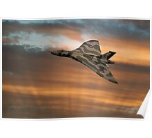 Avro Vulcan XH558 At Sunset Poster