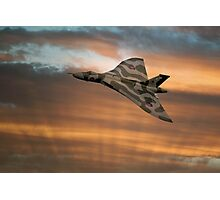 Avro Vulcan XH558 At Sunset Photographic Print