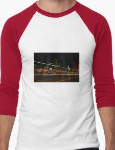 Night Time Neon Lights Men's Baseball ¾ T-Shirt
