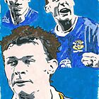 Duncan Ferguson Comic Book Style Painting by chrisjh2210