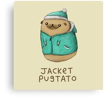 Jacket Pugtato Canvas Print