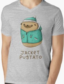 Jacket Pugtato Mens V-Neck T-Shirt