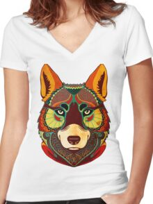 The Wolf Women's Fitted V-Neck T-Shirt