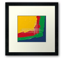 primary colors theme Framed Print