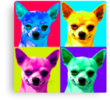 Chihuahua Pop Art Canvas Print