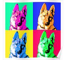German Shepherd Pop Art Poster