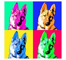 German Shepherd Pop Art Photographic Print