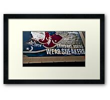 Shoes Are Boring Framed Print
