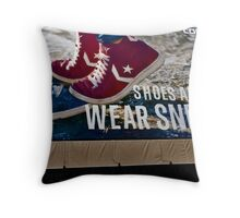 Shoes Are Boring Throw Pillow