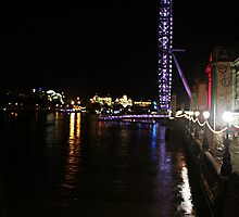 Thamescape 3: Evening on the South Embankment by WDWillms