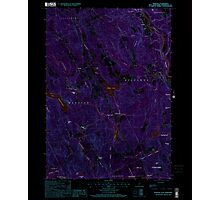 USGS TOPO Map New Hampshire NH Webster 329855 2000 24000 Inverted Photographic Print