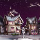 Ponyville, Dusk, Snowy by Stinkehund