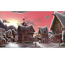Ponyville, Dawn, Snowy Photographic Print