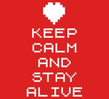 Keep calm and stay alive (8bit) One Piece - Long Sleeve