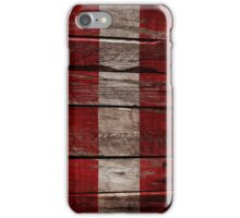 Vintage Austria Flag - Cracked Grunge Wood iPhone Case/Skin