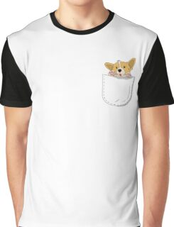 Pocket Corgi Pup Graphic T-Shirt