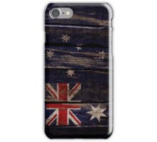 Vintage Australia Flag - Cracked Grunge Wood iPhone Case/Skin