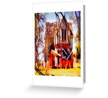 Homeless Old House Greeting Card