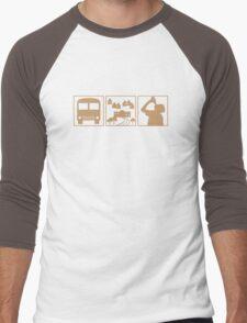 DUSTED Men's Baseball ¾ T-Shirt