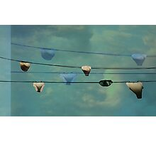 Underwear on a washing line  Photographic Print