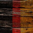 Vintage Germany Flag - Cracked Grunge Wood by UltraCases