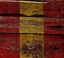 Vintage Spain Flag - Cracked Grunge Wood by UltraCases