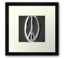 Peace sign Framed Print